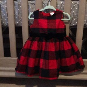 Worn once carters baby girl size 12M dress